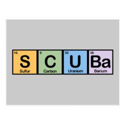 Postcard with Scuba design