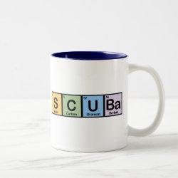 Two-Tone Mug with Scuba design