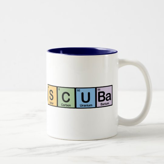 Scuba made of Elements Two-Tone Coffee Mug