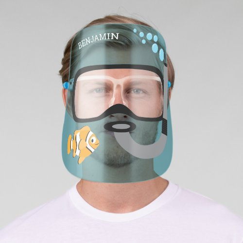 Scuba Mask with Snorkel Clown Fish Water Name