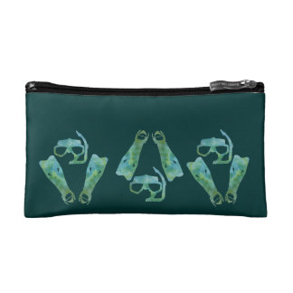 Scuba Masks and Flippers Cosmetic Bags