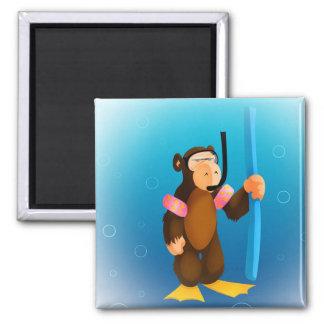 Scuba Monkey Magnet
