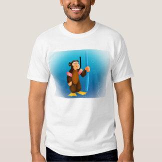 Scuba Monkey T Shirt