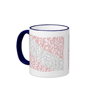 Scuba Monologue Mugs