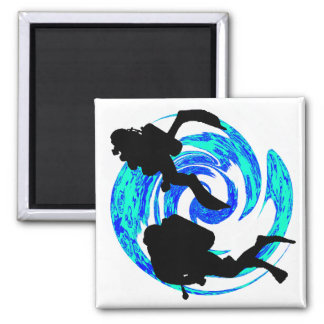 SCUBA ON ALWAYS 2 INCH SQUARE MAGNET