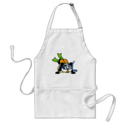 Apron with Cute Scuba Diving Panda design