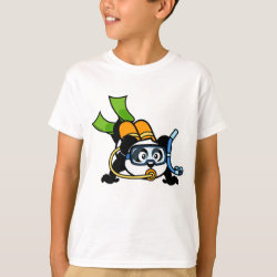 Kids' Hanes TAGLESS® T-Shirt with Cute Scuba Diving Panda design