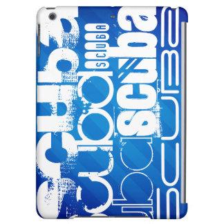 Scuba; Royal Blue Stripes iPad Air Cover