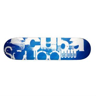 Scuba; Royal Blue Stripes Skate Deck