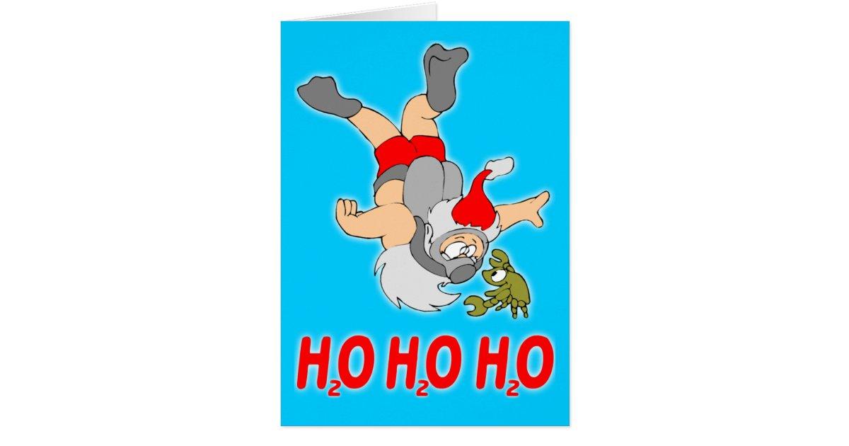 Scuba Santa Christmas Card Zazzle