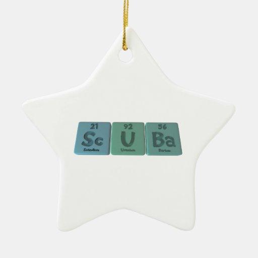 Scuba-Sc-U-Ba-Scandium-Uranium-Barium.png Adorno Navideño De Cerámica En Forma De Estrella