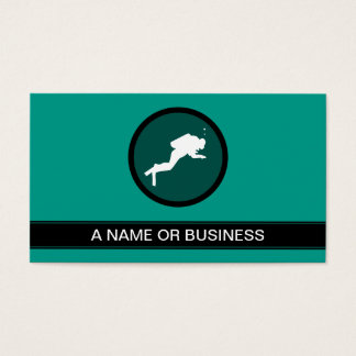 scuba sea green bubble business card