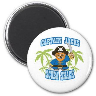 Scuba Shack de capitán Jack Imanes Para Frigoríficos