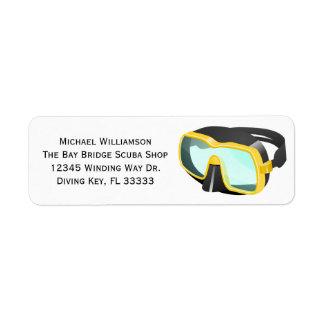 Scuba Snorkel Diving Mask Custom Name or Business Label