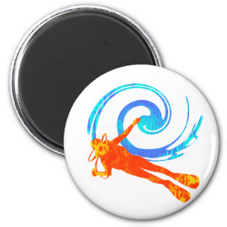 SCUBA SOL KISSED 2 INCH ROUND MAGNET