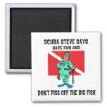 SCUBA Steve Refrigerator Magnet