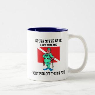 SCUBA Steve Two-Tone Coffee Mug