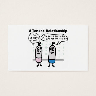 Scuba Tanks Relationship Business Card
