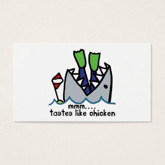 Scuba Tastes Chicken Shark Business Card