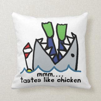 Scuba Tastes Chicken Shark Pillow
