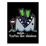 Scuba Tastes Chicken Shark Post Card