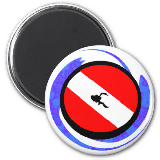 SCUBA THE BADGE 2 INCH ROUND MAGNET