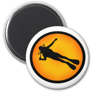 SCUBA THE DELIGHT 2 INCH ROUND MAGNET