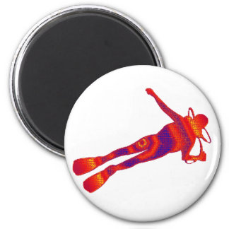 SCUBA THE FRONTIER 2 INCH ROUND MAGNET