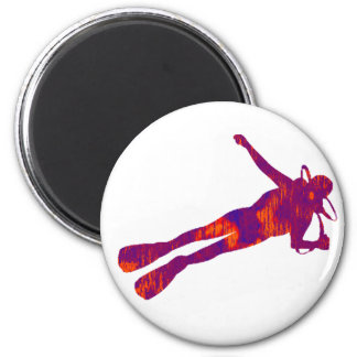 SCUBA THE LIGHT 2 INCH ROUND MAGNET