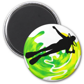 SCUBA THE MAIN 2 INCH ROUND MAGNET