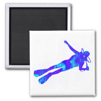 SCUBA THE OCEANS 2 INCH SQUARE MAGNET