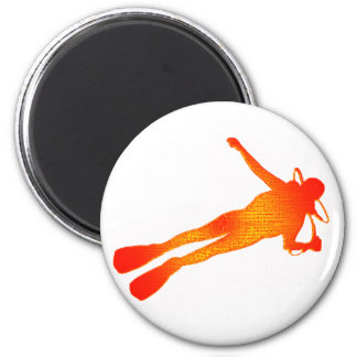 SCUBA THE TRAINING 2 INCH ROUND MAGNET