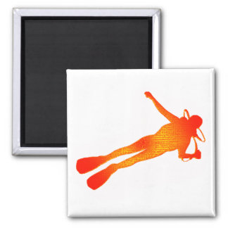 SCUBA THE TRAINING 2 INCH SQUARE MAGNET