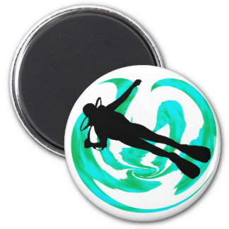 SCUBA THE UNKNOWN 2 INCH ROUND MAGNET