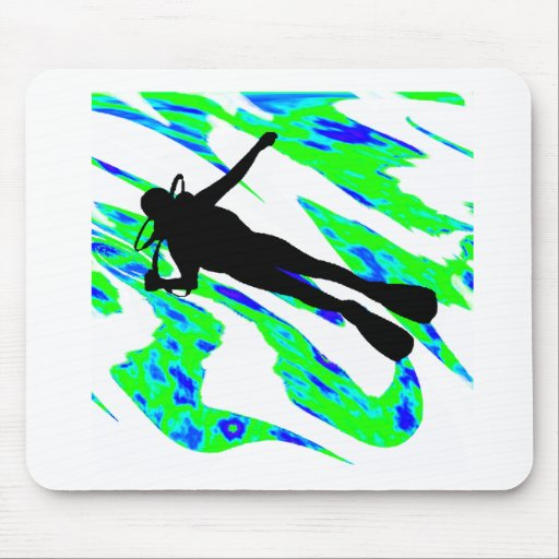 SCUBA THE WATERS MOUSE PAD
