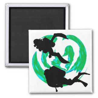 SCUBA THIS PARADISE 2 INCH SQUARE MAGNET