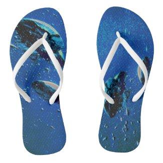 Scuba thongs flip flops