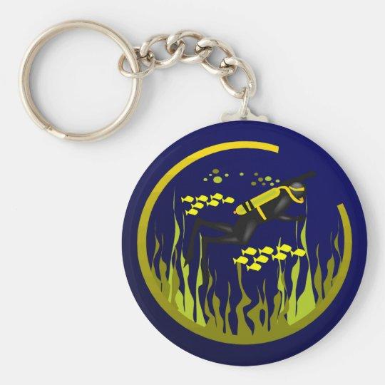 Scuba Time Keychain