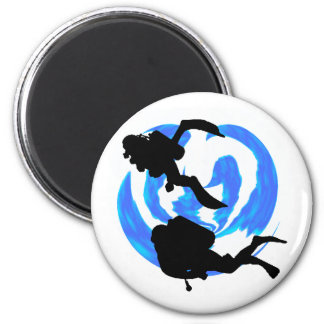 SCUBA TO LIFE 2 INCH ROUND MAGNET