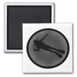 SCUBA TOO NIGHT 2 INCH SQUARE MAGNET