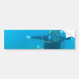 Scuba Underwater Life Bumper Sticker