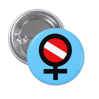 Scuba Woman Button