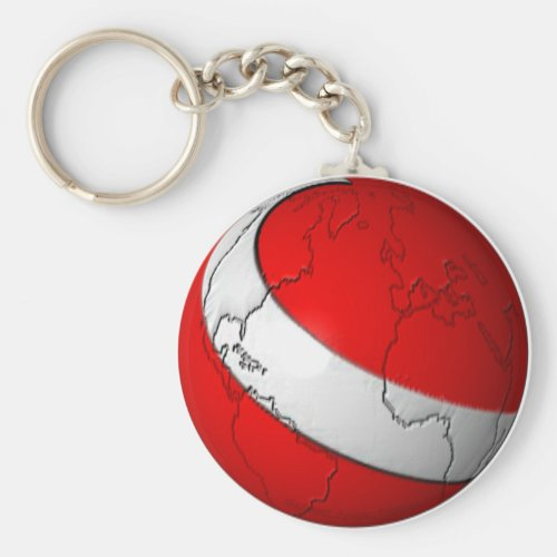 Scuba World Keychain