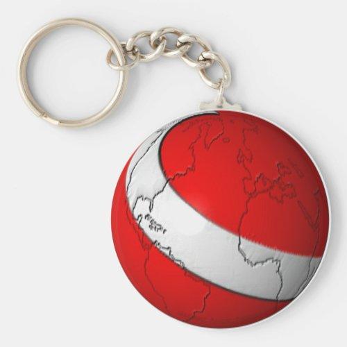 Scuba World Keychain