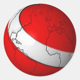 Scuba World Round Sticker