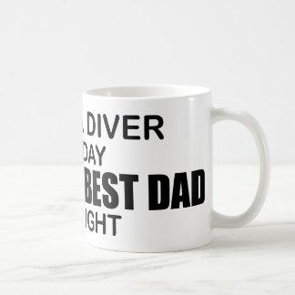 Scuba - World's Best Dad by Night Coffee Mug