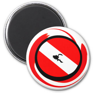 SCUBA YOURS MINE 2 INCH ROUND MAGNET