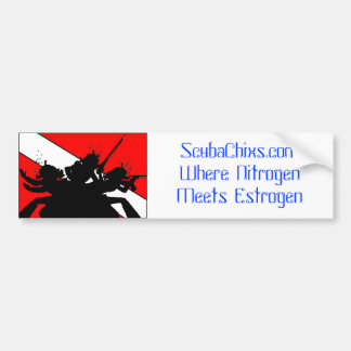 ScubaChixs Bumper Sticker