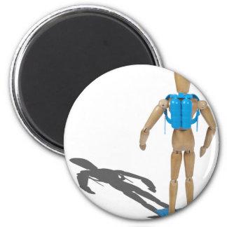 ScubaDiverFacingAway030111 2 Inch Round Magnet