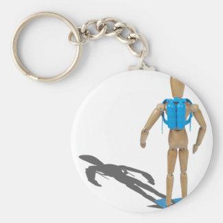 ScubaDiverFacingAway030111 Basic Round Button Keychain